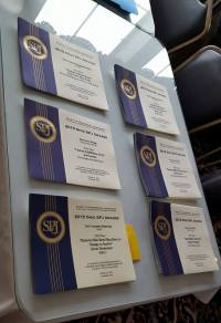 Award certificates await presentation at the Oct. 24 banquet in Cincinnati.