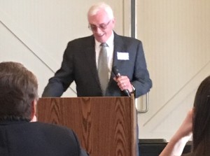 Lifetime Achievement Award winner Tom Borgerding accepts his award April 20.